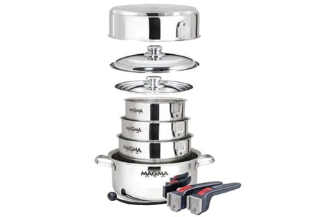 Magma Nesting Cookware Set Review Great Stackable Cooking
