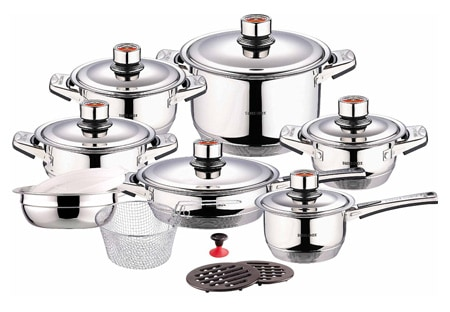 Swiss Inox Si-7000 18-Piece Stainless Steel pic