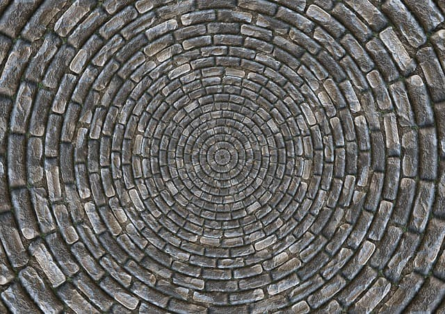 Stone tiles for the floor create a more open feeling